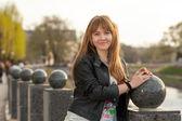 Portrait of the beautiful teenage girl — Stockfoto