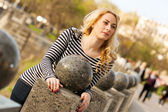 Beautiful young city woman — Stock Photo