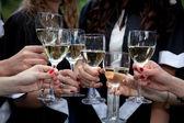 Bachelor's graduates celebrate — Foto de Stock