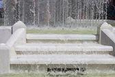 Fountain steps — Stock Photo
