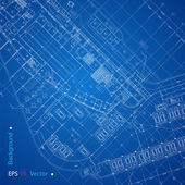 Urban Blueprint (vector) — Vector de stock