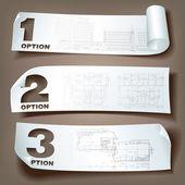 Conjunto de bandeiras de arquitetura web — Vetorial Stock