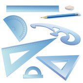 Set of Architectural Drawing Tools — Stock Vector