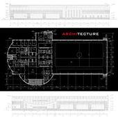 Conceptual architectural background (vector) — Stockvektor