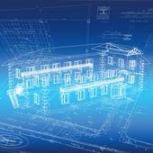 Urban Blueprint (vector) — Stock Vector