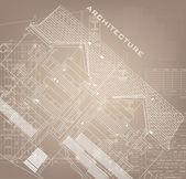 Fondo arquitectónico (vector) — Vector de stock