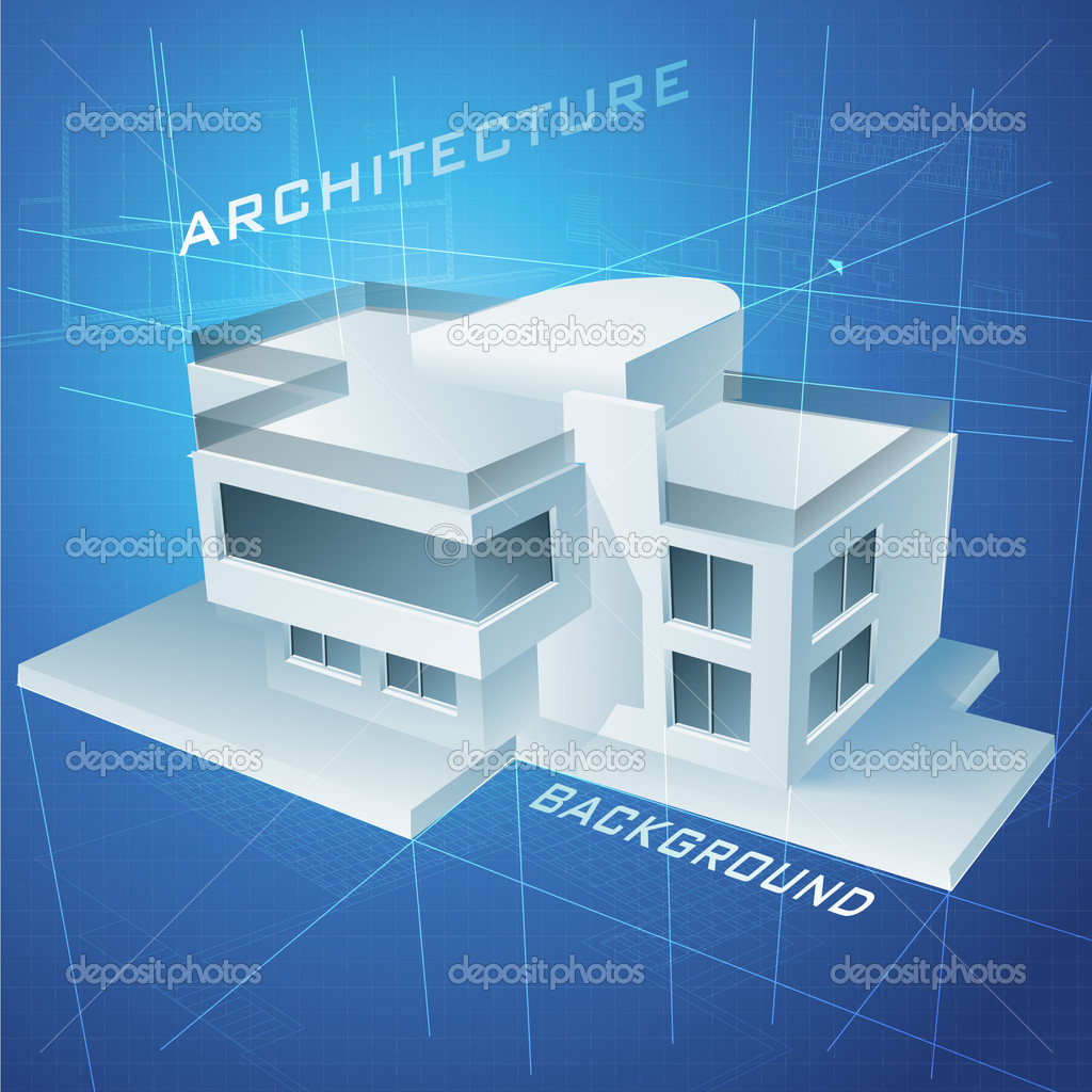 Plano urbano con un modelo del edificio 3d vector stock - Busco arquitecto tecnico ...