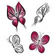 Butterfly. Vector set. — Stock Vector #10881147