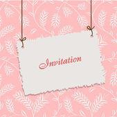 Design vintage de cartão para cartão, convite, menu, capa... — Vetor de Stock