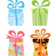 Cute gift boxes collection — Stock Vector #11165960