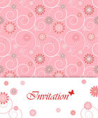 Floral card design for greeting card, invitation, menu, cover... — Stock Vector