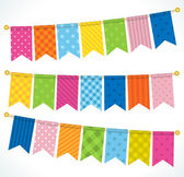 Vector bunting flags — Stock Vector