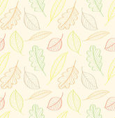 Autumn leaves, seamless pattern — Stock Vector