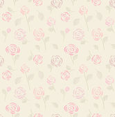 Vintage seamless pattern with pink roses — Stock Vector