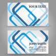 Stock Vector: Blue and gray modern business card template.