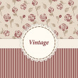 Royalty-Free Stock Vector Image: Vintage card design for greeting card, invitation, menu, cover...