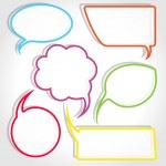 Colorful speech bubble frames — Stock Vector