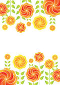 Background from flowers — Stock Vector
