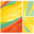 Stock Vector: Set of summer abstract backgrounds