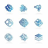 Vector abstract technology icons set — Stock Vector