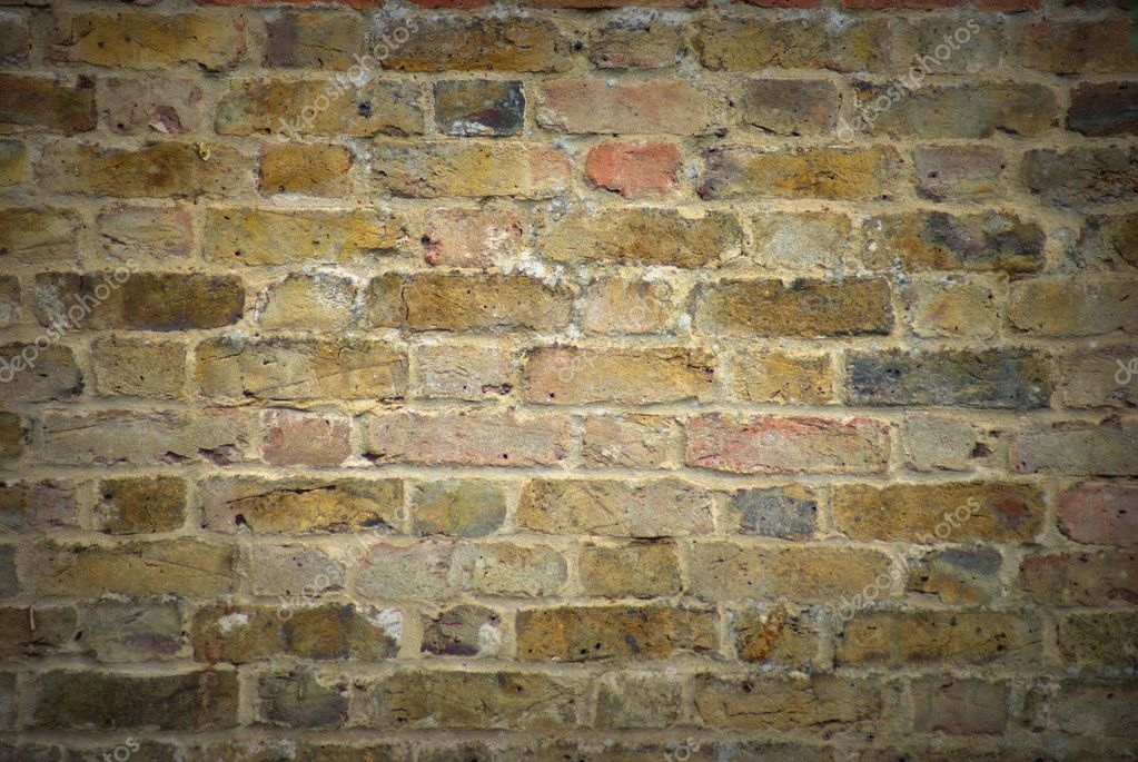 Old, vignette style Brick Wall Texture Background — Stock Photo #11744520
