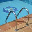 Ladder Leading to Swimming Pool — Stock Photo