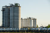 Industrial cement silo — Stock Photo