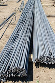 Reinforcing steel bars for building armature — Stock Photo
