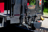 Detail detailed photo of a historic railway carriages — Stock Photo