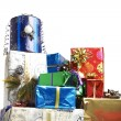 Many colorful Christmas packages — Stock Photo #11514214