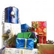 Stock Photo: Many colorful Christmas packages