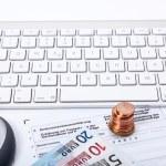 Income tax declaration — Stock Photo