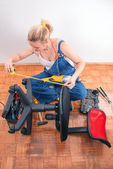 Home repairs - chair repair — Stock Photo