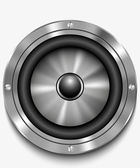 Icon loudspeaker vector. Audio loud speaker. Stereo, sound, radio, volume, dolby illustration. — Stock Vector