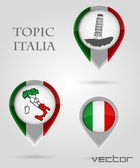 Topic ITALIA Map Marker — Stock Vector
