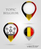 тема бельгии маркер — Cтоковый вектор