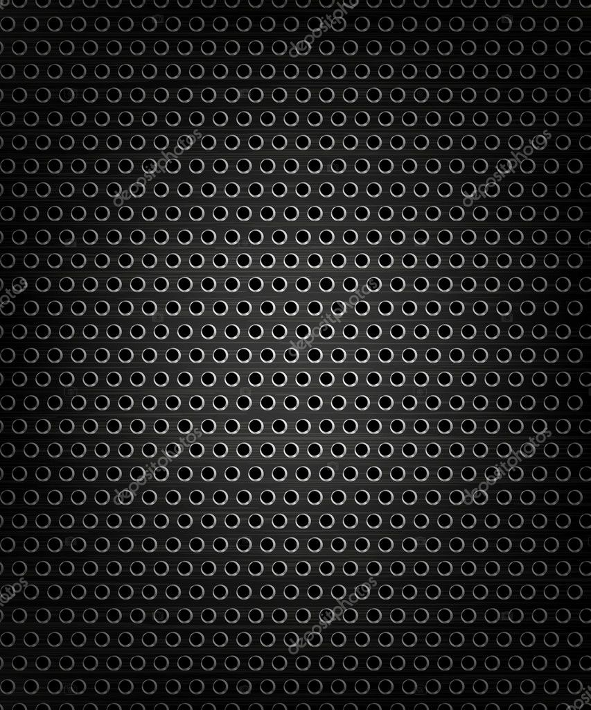Black speaker grill, metal background, abstract texture.  Stock Vector #11306518