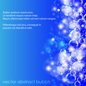 Blue water background. Vector illustration. — Vector de stock