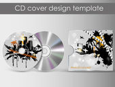 CD Cover Design with 3D Presentation Template | Everything is Organized in Layers Named Accordingly | To Change the Cover Design use the Cd and Cover Design Layers — Stock Vector