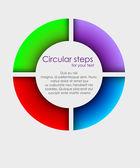 Vector colorful arrows circle — Stock Vector