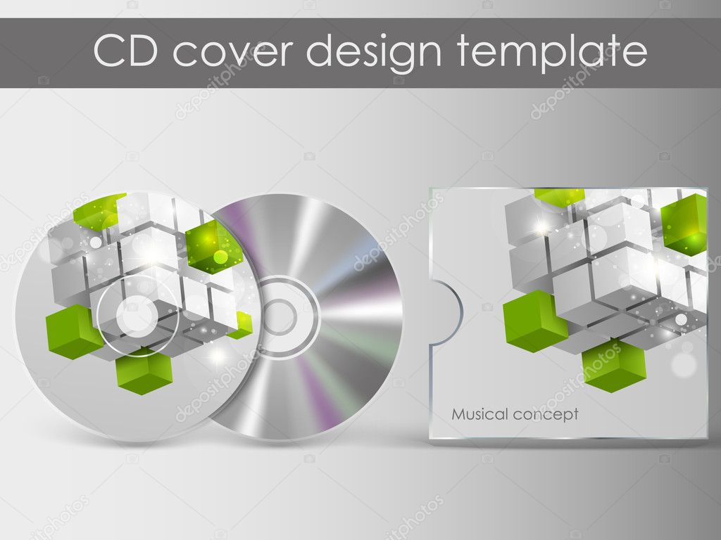 cd cover design with 3d presentation template everything is organized in layers named. Black Bedroom Furniture Sets. Home Design Ideas