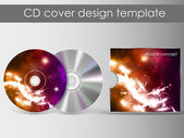 CD Cover Design with 3D Presentation Template   Everything is Organized in Layers Named Accordingly   To Change the Cover Design use the Cd and Cover Design Layers — Stock Vector