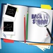 Vector de stock : Back to school composition