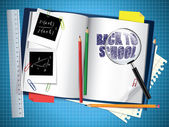 Back to school composition — Vector de stock