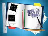 Torna alla composizione di scuola — Vettoriale Stock