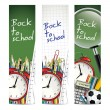 Back to school - vector banners — ストック写真