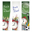 Back to school - vector banners — Foto de Stock