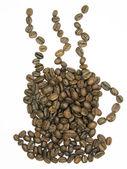 咖啡豆杯形状 — 图库照片