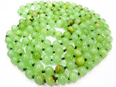 Onyx mineral green beads — Stock Photo