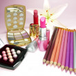 Stock Photo: Cosmetic set for makeup